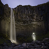 Lightmark No.104, Svartifoss, Iceland, Light Painting, Night Photography.