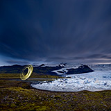 Lightmark No.120, Skaftafell National Park, Fjallsárlón, Iceland, Light Painting, Night Photography.