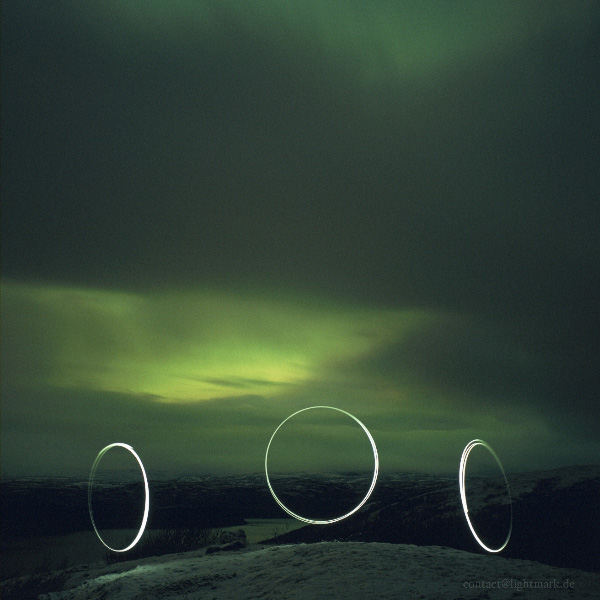 Lightmark No.60, Deanodat, Tanafjorden, Finnmark, Norway, Light Painting, Night Photography.